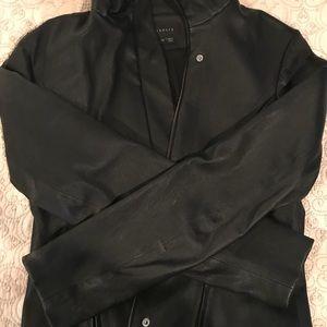 Theory Frayda Leather Moto jacket